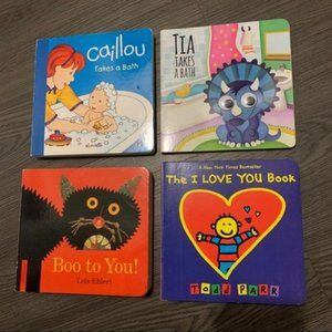 Lot of four hard pages toddlers early reader books